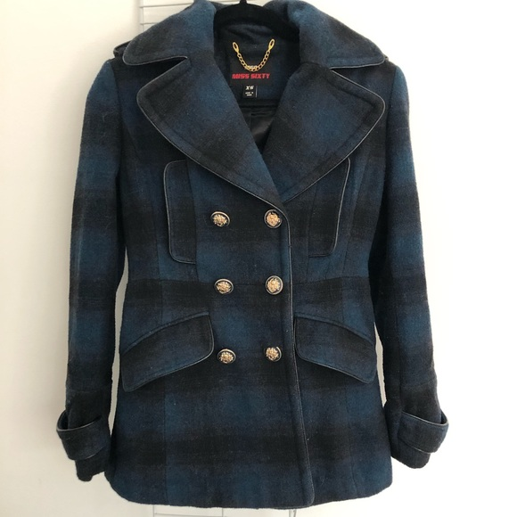 Miss Sixty Military Style Plaid Jacket